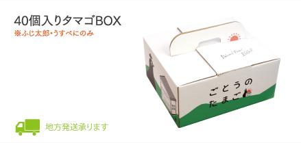 40個入りタマゴBOX(ふじ太郎・うすべに)地方発送承ります。